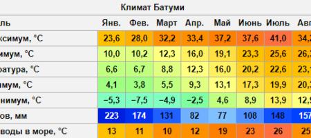 Климат в Грузии, Батуми